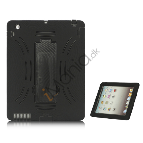 Image of   Snap-on Defender Case Cover med holder til iPad 2 den nye iPad - Sort