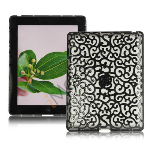 Image of   Metalbelagt Hollow Flower Hard Case Cover til iPad 2 3 4 - Grå