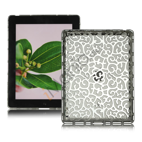 Image of   Metalbelagt Hollow Flower Hard Case Cover til iPad 2 3 4 - Sølv