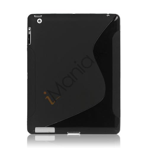 Billede af S Shape TPU Gel Case Cover til Den Nye iPad 2. 3. 4. generation, Flere farver