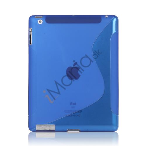 Billede af S-Line Wave TPU Gel Etui til Den Nye iPad 2 3 4 - Blå