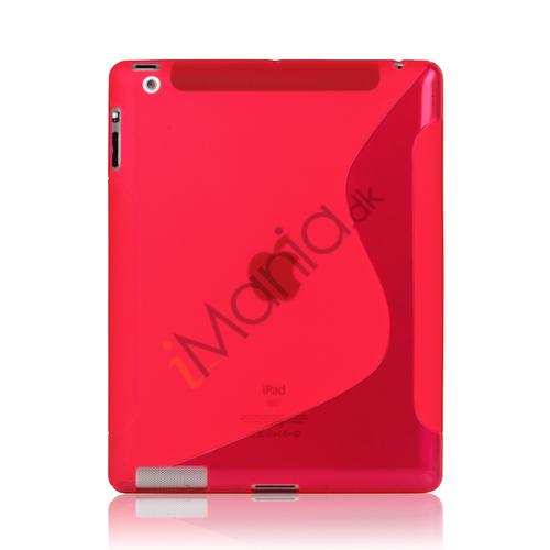 Image of   S-Line Wave TPU Gel Etui til Den Nye iPad 2 3 4 - Rose