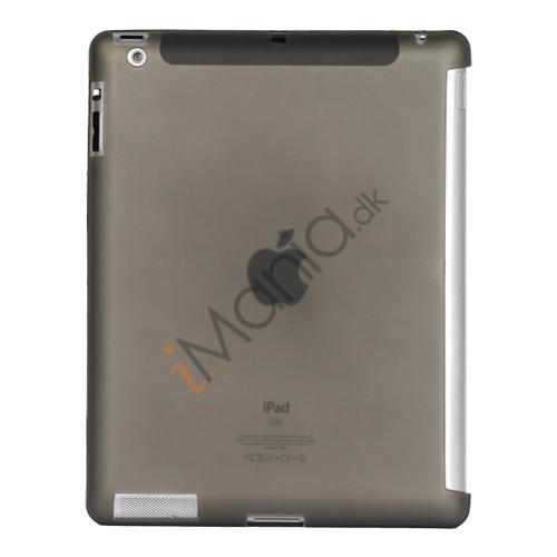 Image of   Smart Cover Companion TPU Gel Case til iPad 2 3 4 - Gennemsigtig Grå