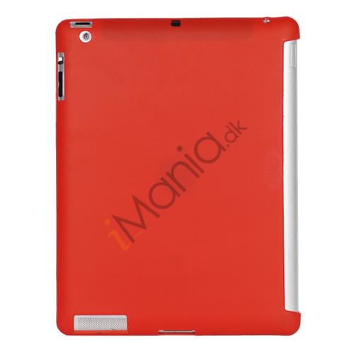 Smart Cover Companion TPU Gel Case til iPad 2 3 4 - Rød