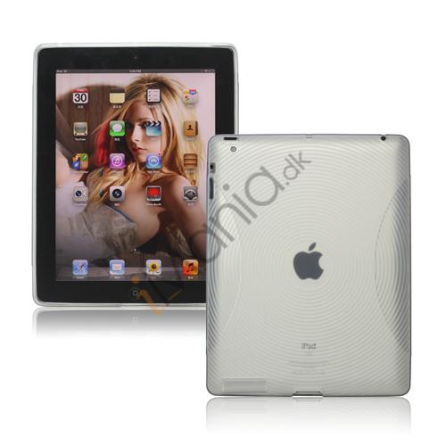 Billede af Fingerprint TPU Gel Case Cover til Den Nye iPad 2. 3. 4. Gen - Transparent