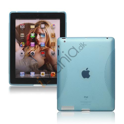 Billede af Fingerprint TPU Gel Case Cover til Den Nye iPad 2. 3. 4. Gen - Baby Blue