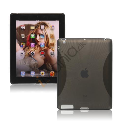 Image of   Fingerprint TPU Gel Case Cover til Den Nye iPad 2. 3. 4. Gen - Grå