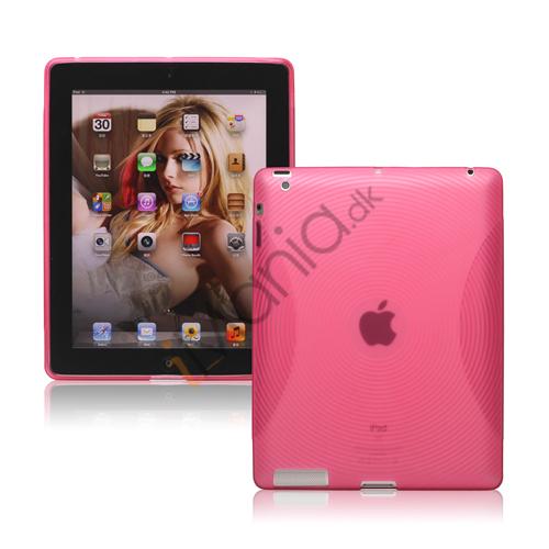 Billede af Fingerprint TPU Gel Case Cover til Den Nye iPad 2. 3. 4. Gen - Pink
