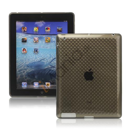 Billede af Stilfuld Diamond TPU Skin Cover Case til Den Nye iPad 2. 3. 4. Gen - Grå