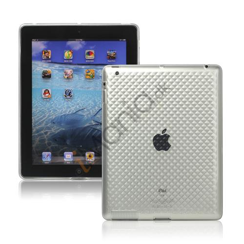 Image of   Stilfuld Diamond TPU Skin Cover Case til Den Nye iPad 2. 3. 4. Gen - Transparent
