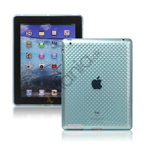 Image of   Stilfuld Diamond TPU Skin Cover Case til Den Nye iPad 2. 3. 4. Gen - Blå