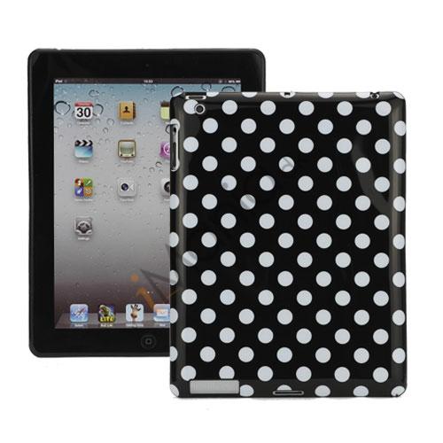 Polka Dot TPU Gel Case til Den Nye iPad 2. 3. 4. Gen - Hvid / Sort