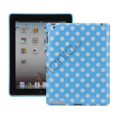 Polka Dot TPU Gel Case til Den Nye iPad 2. 3. 4. Gen - Hvid / Blå