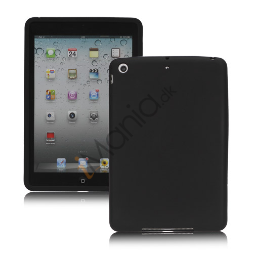 Soft Silicone Case Cover til iPad Mini - Sort