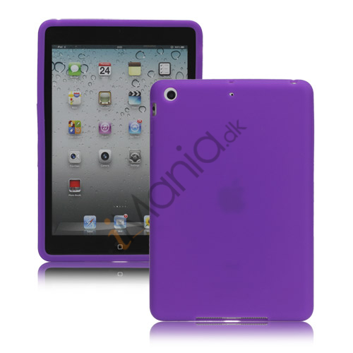 Soft Silicone Case Cover til iPad Mini - Lilla