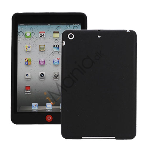 Image of   Blødt Silicone Case Cover med Chokolade Home Button til iPad Mini - Sort