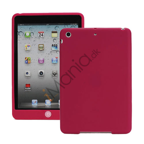 Image of   Blødt Silicone Case Cover med Chokolade Home Button til iPad Mini - Rose