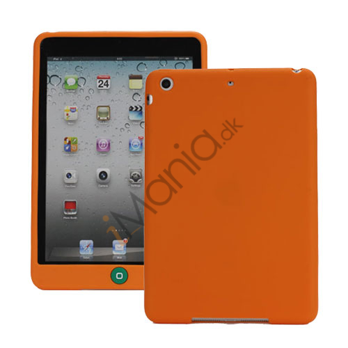 Image of   Blødt Silicone Case Cover med Chokolade Home Button til iPad Mini - Orange