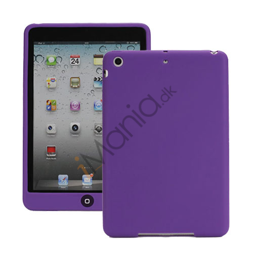 Image of   Blødt Silicone Case Cover med Chokolade Home Button til iPad Mini - Lilla