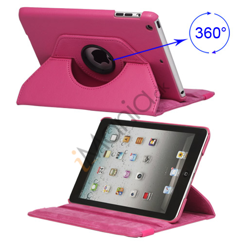 Image of   360 Degree Rotary Leather Case Cover til iPad Mini - Rose