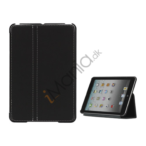 Slim Canvas Case Cover with Stand til iPad Mini - Sort