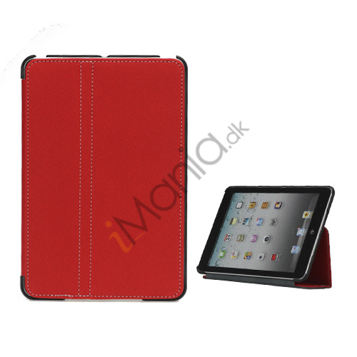 Slim Canvas Case Cover with Stand til iPad Mini - Rød