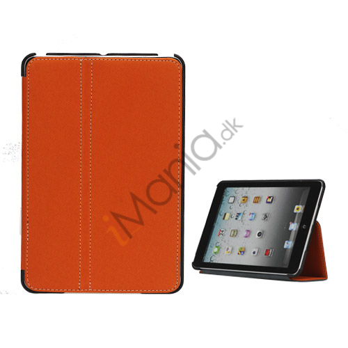 Slim Canvas Case Cover with Stand til iPad Mini - Orange