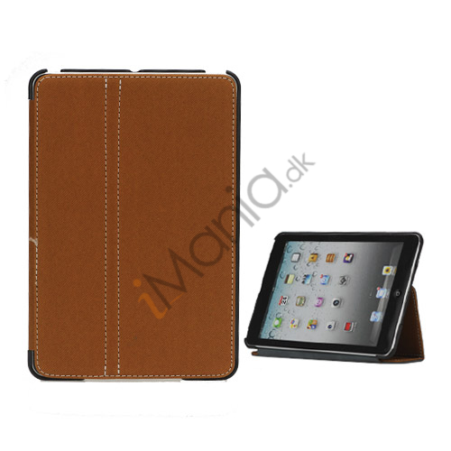 Slim Canvas Case Cover with Stand til iPad Mini - Brun