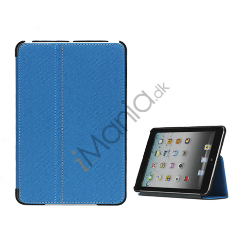 Slim Canvas Case Cover with Stand til iPad Mini - Baby Blå