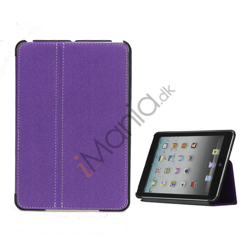 Slim Canvas Case Cover with Stand til iPad Mini - Lilla