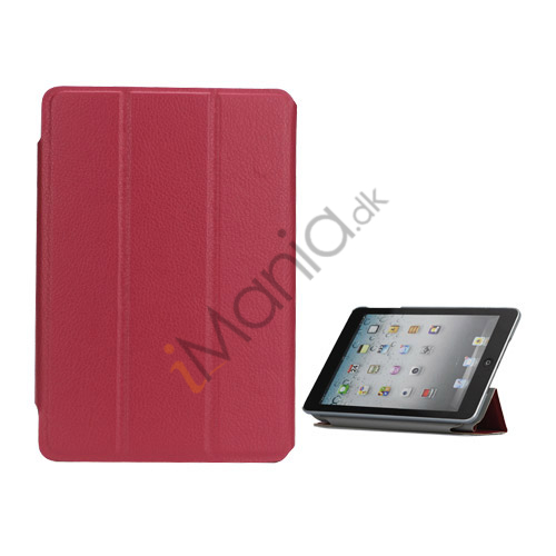 Folio Style Leather Magnetic Case Cover til iPad Mini - Rose