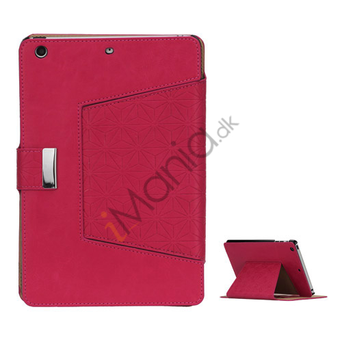 Geometric Pattern Stand Leather Flip Case Accessories til iPad Mini - Rose