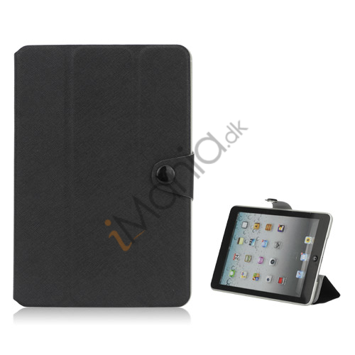 Grain Line Folio PU Leather Stand Case Cover til iPad Mini - Sort