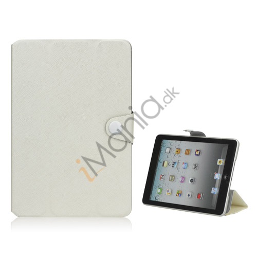 Grain Line Folio PU Leather Stand Case Cover til iPad Mini - Hvid