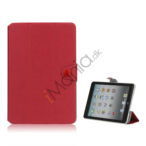Grain Line Folio PU Leather Stand Case Cover til iPad Mini - Rød