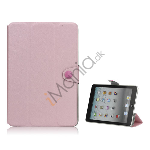 Grain Line Folio PU Leather Stand Case Shell til iPad Mini - Pink