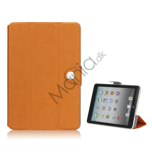 Grain Line PU Leather Stand Folio Case Cover til iPad Mini - Orange