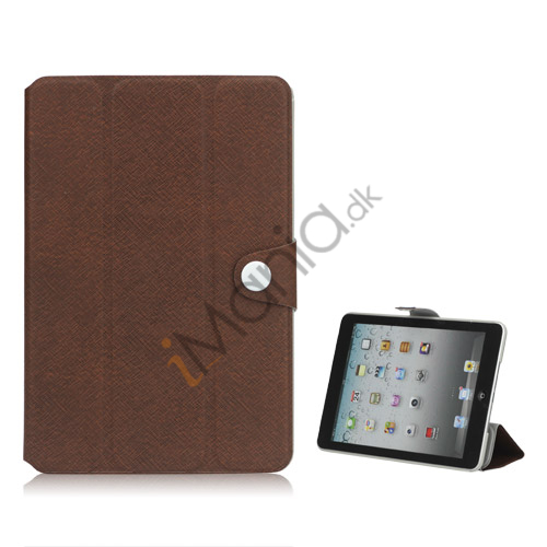 Grain Line Folio PU Leather Stand Case Cover til iPad Mini - Brun