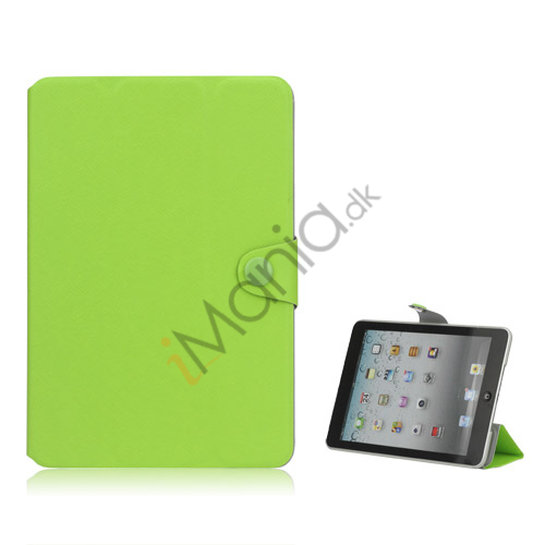 Grain Line Folio PU Leather Stand Case Cover til iPad Mini - Grøn