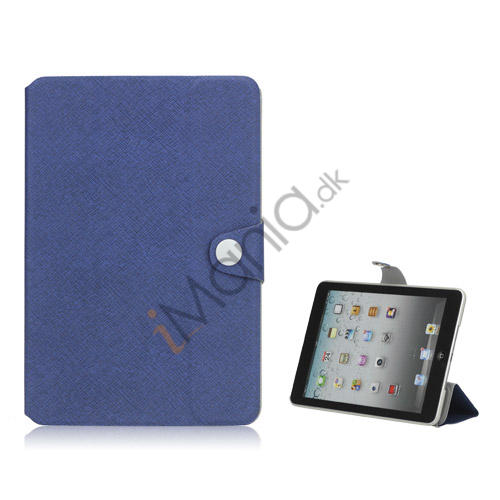 Grain Line Folio PU Leather Stand Case Cover til iPad Mini - Blå