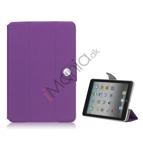 Grain Line Folio PU Leather Stand Case Cover til iPad Mini - Lilla