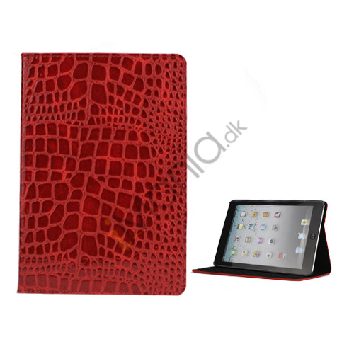 Image of   Crocodile Læder Case Cover Stand til iPad Mini - Rød