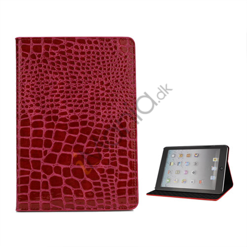 Image of   Crocodile Læder Case Cover Stand the iPad Mini - Rose