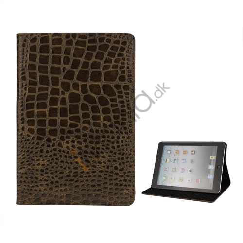 Image of   Crocodile Læder Case Cover Stand the iPad Mini - Brun