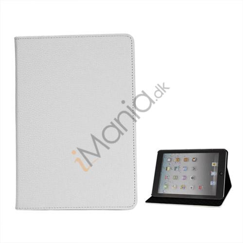 Image of   Litchi Folio Lædertaske Cover med Stand til iPad Mini - Hvid