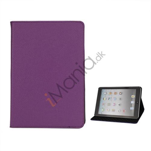 Image of   Litchi Folio Lædertaske Cover med Stand til iPad Mini - Lilla
