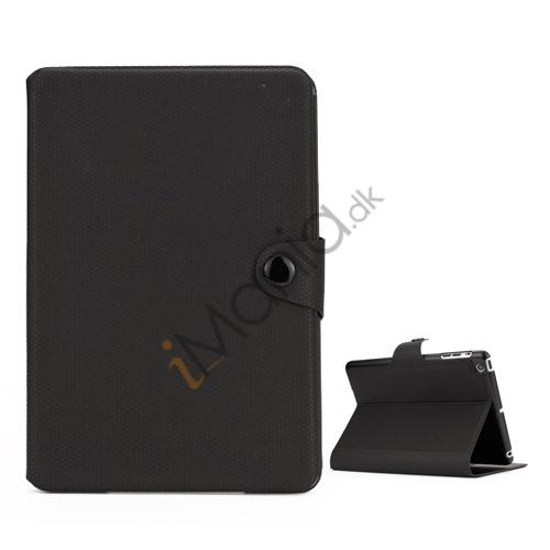 Image of   Fodbold Vein Magnetic Læder Stand Case til iPad Mini - Sort