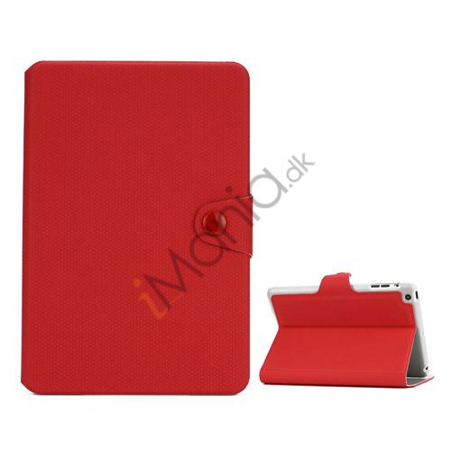Image of   Fodbold Vein Magnetic Læder Stand Case til iPad Mini - Rød