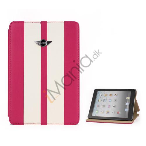 Billede af To-tone MINI Cooper Car Logo Læderetui Cover med Stand til iPad Mini - Hvid / Rose