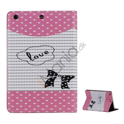 Rødhætte Folio PU Læder Case Cover med Stand til iPad Mini - Pink